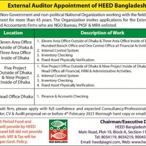 External auditor appointment of heed Bangladesh